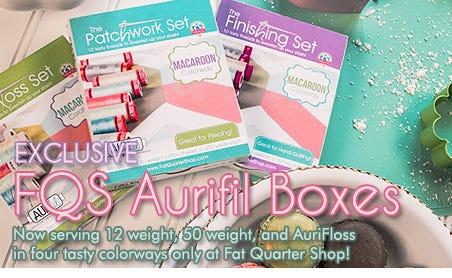 FQS - Exclusive Aurifil Boxes are at the Fat Quarter Shop!
