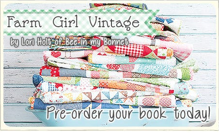 FQS - Pre-order your copy of Farm Girl Vintage today at Fat Quarter Shop!