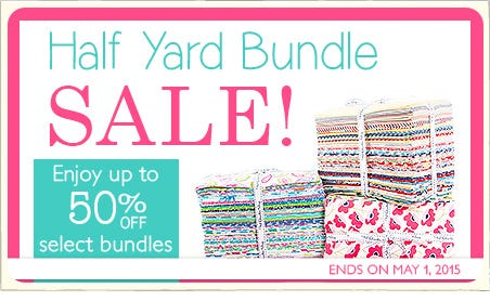 FQS - Half Yard Bundle Sale at the Fat Quarter Shop!