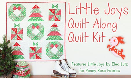 FQS - Little Joys Quilt Along Quilt Kit is at the Fat Quarter Shop!