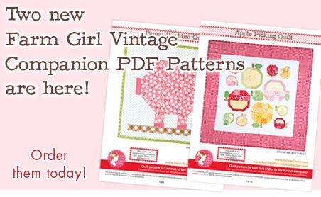 FQS - New Farm Girl Vintage Companion Patterns are here!