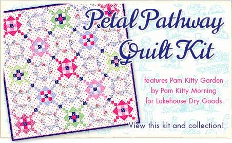 FQS - Petal Pathway Quilt Kit is at the Fat Quarter Shop!