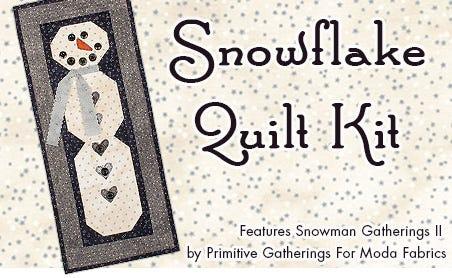FQS - Snowflake Quilt Kit is at the Fat Quarter Shop!
