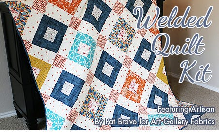 FQS - Welded Quilt Kit featuring Artisan By Pat Bravo at Fat Quarter Shop!