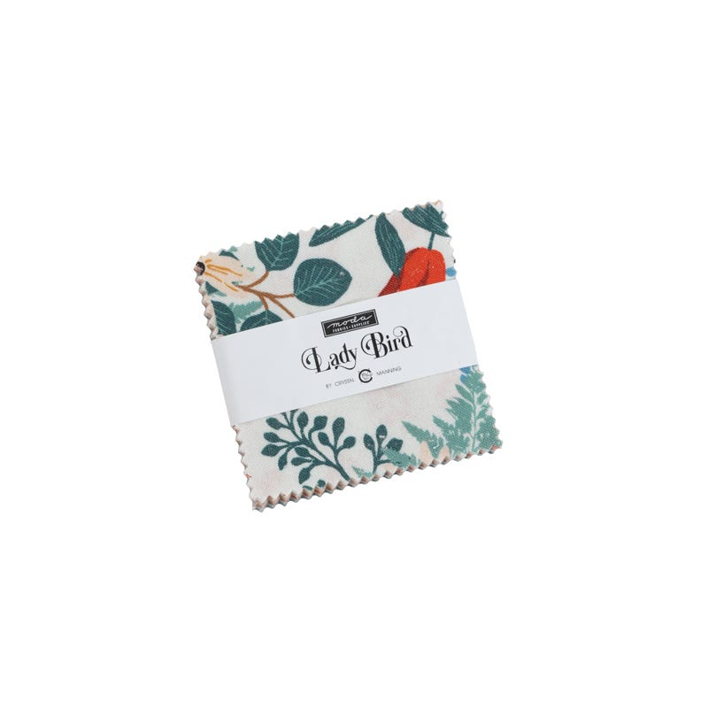 Camelot fabric Spring Birds 5 Squares Charm Pack