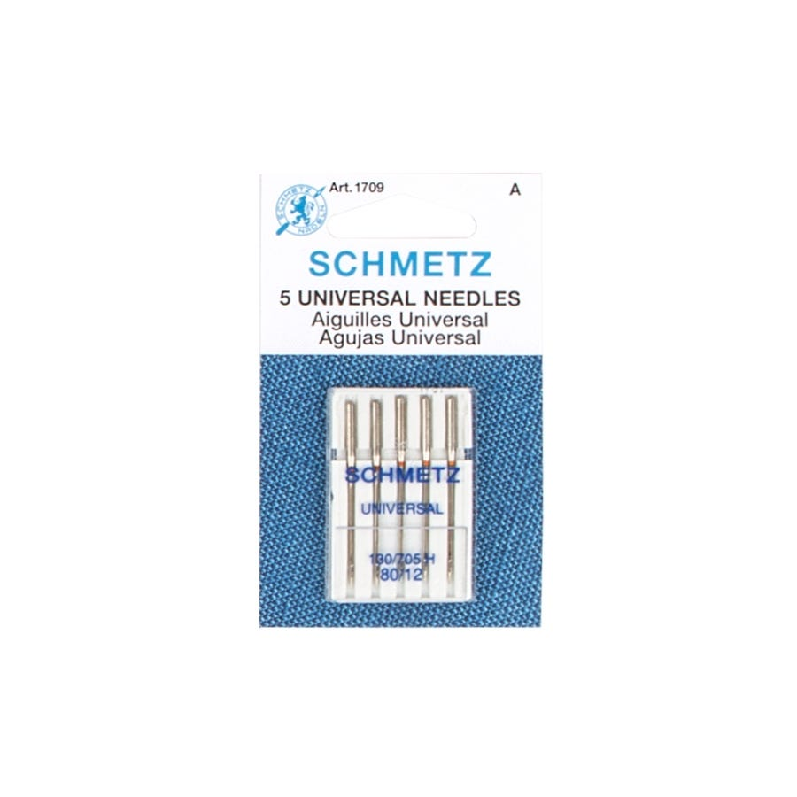 Sewing Machine Needles by Schmetz Various Sizes of UNIVERSAL Sharps Pack of 5