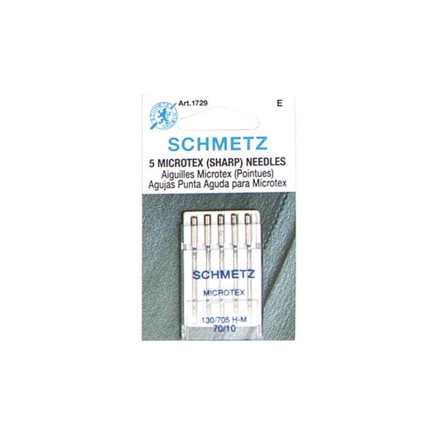 Schmetz Microtex Sharp Machine Sewing Needles Package of 5