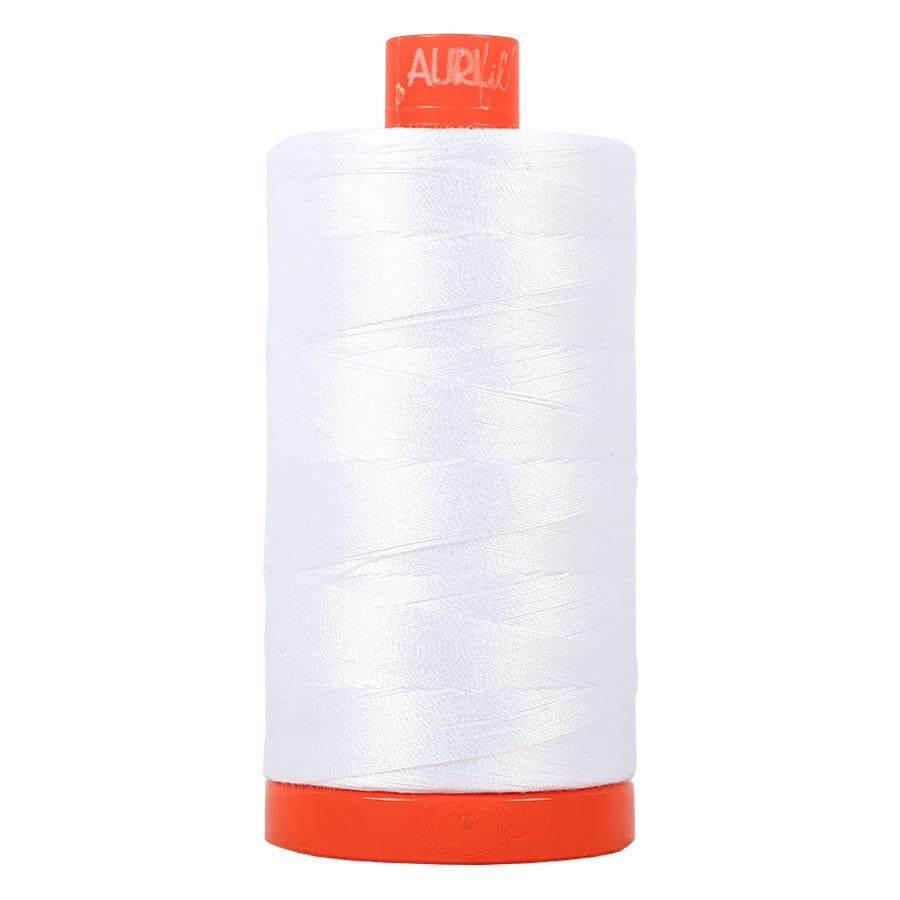 AURIFIL 100/% Cotton Mako Thread 50wt MK50 2745 Midnight Large Spool