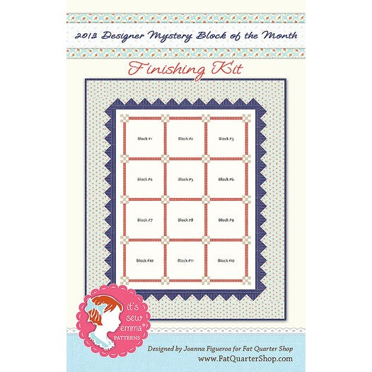 Finishing Pattern For 2013 Designer Mystery Block Of The Month Fat Quarter Shop Block Of The Month Program 2013dm Fk