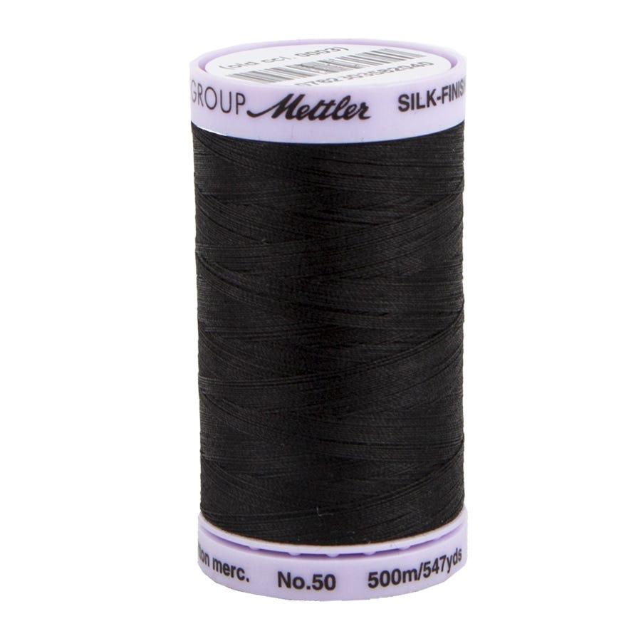 Mettler Silk Finish Cotton Thread 50wt 547yd-Ash Mist 9104-331