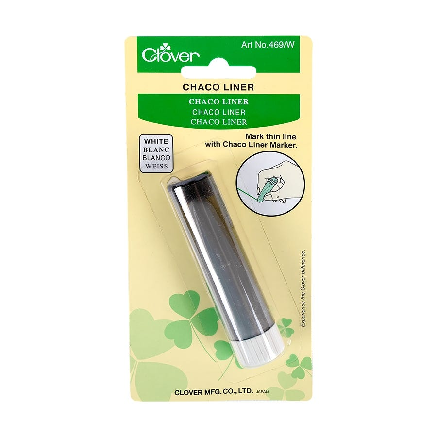 Clover Iron Away Fine Line White Fabric Marker