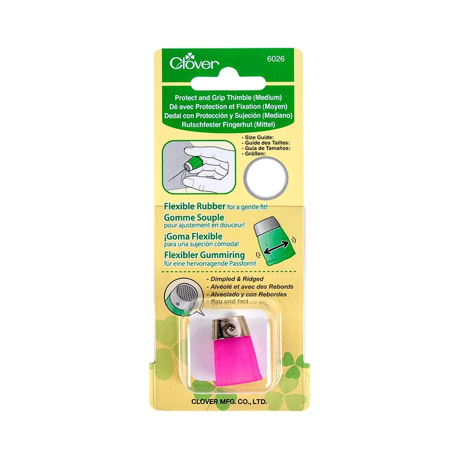 Medium #6026 Sewing Quilting Notions Clover Protect And Grip Thimble