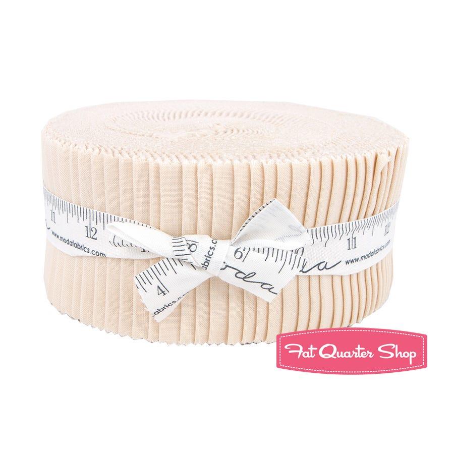 "Moda Bella Solids Natural Jelly Roll 40 2.5/"" x 42/"" Fabric Strips 9900JR-12"