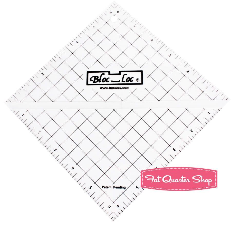 Acrylic Ruler Bloc Loc~6.5 Half Square Triangle Ruler