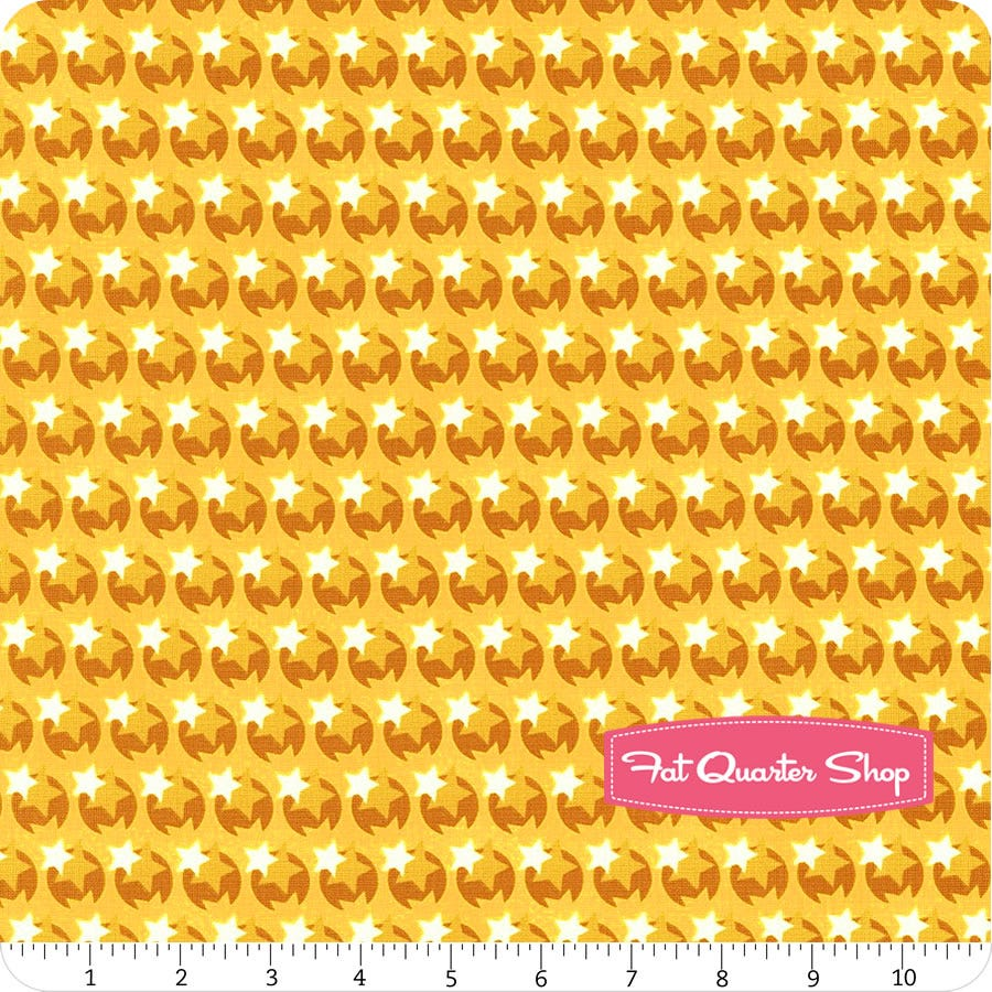 Heather Bailey Hello Love PWHB080 Pop Star Yellow Cotton Fabric By The Yard