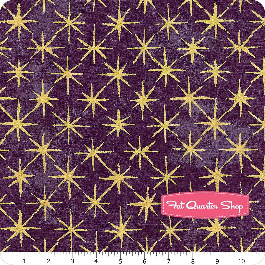 sold by the half yard Eggplant Metallic Grunge by BasicGrey for Moda Fabrics