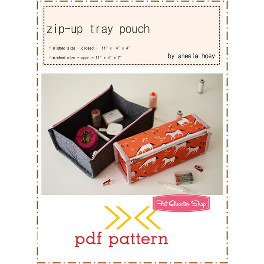 Zip-Up Tray Pouch Downloadable PDF Sewing Pattern | Aneela Hoey