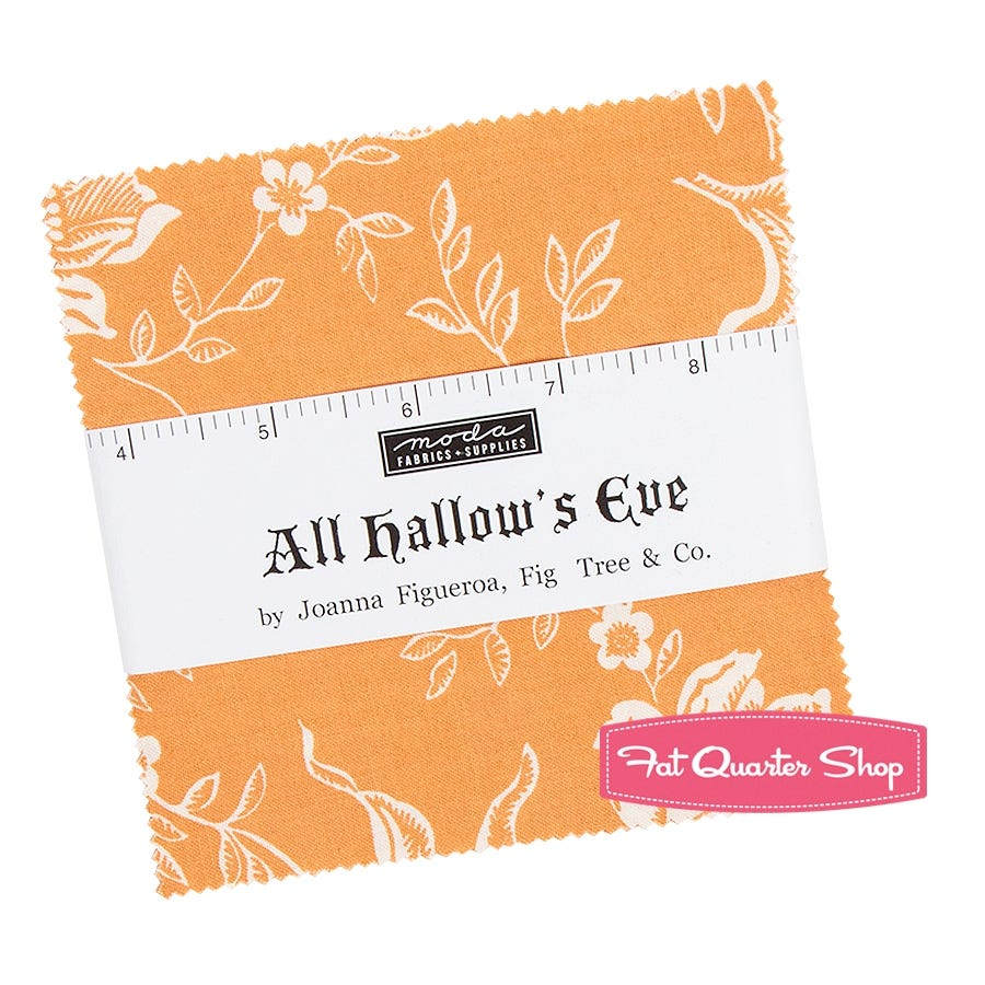 Fat Quarter All Hallow Eves Halloween Cotton Quilting Fabric