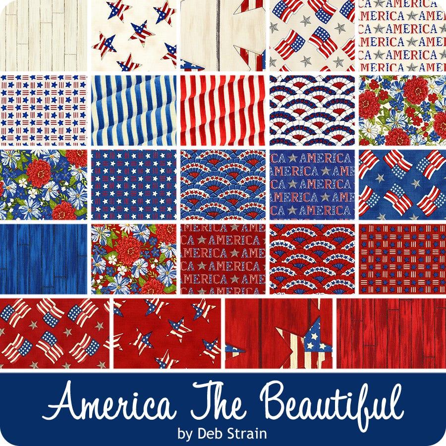 Red Moda 19989 11 America The Beautiful Deb Strain Barn Wood