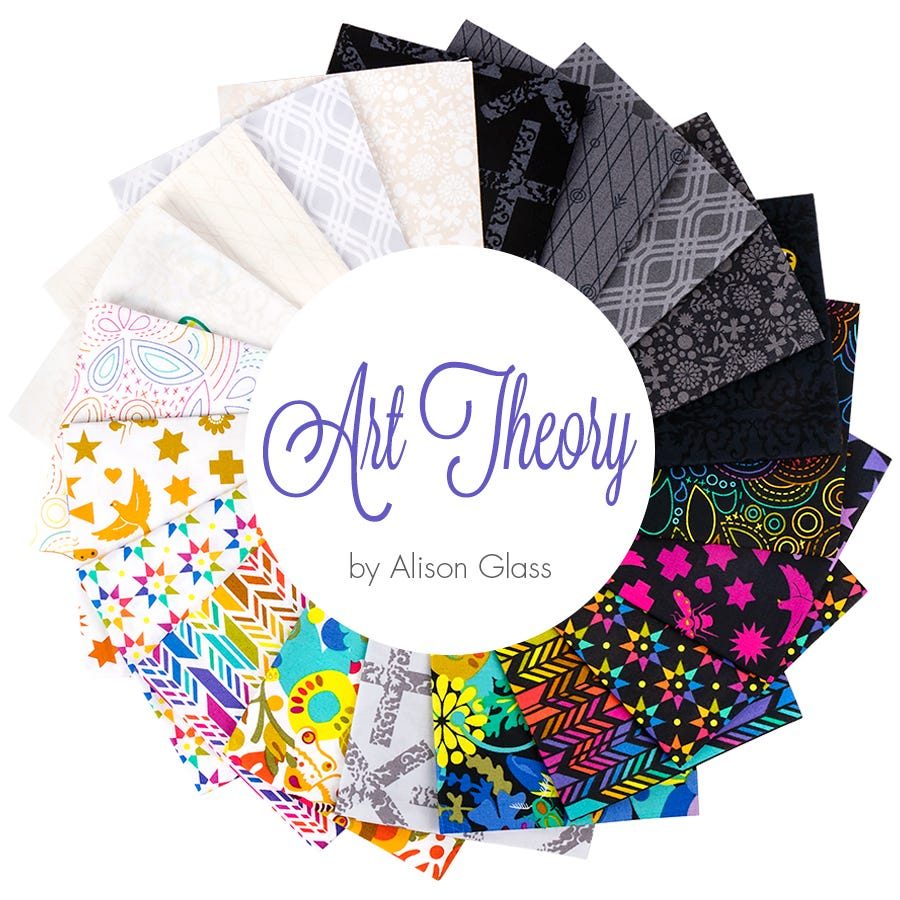 Art Theory Party Streamer Day Alison Glass Fabrics Blender Fat Quarters 100/% cotton quilting dressmaking UK Shop A-9705-L