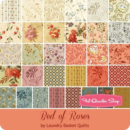 Edyta Sitar Bed of Roses Patchwork Quilting Dressmaking Craft 100/% Cotton Fabric
