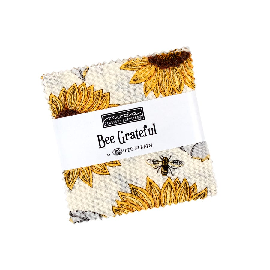 BeesSs BEE GRATEFUL MODA Patchwork Fabric Bees