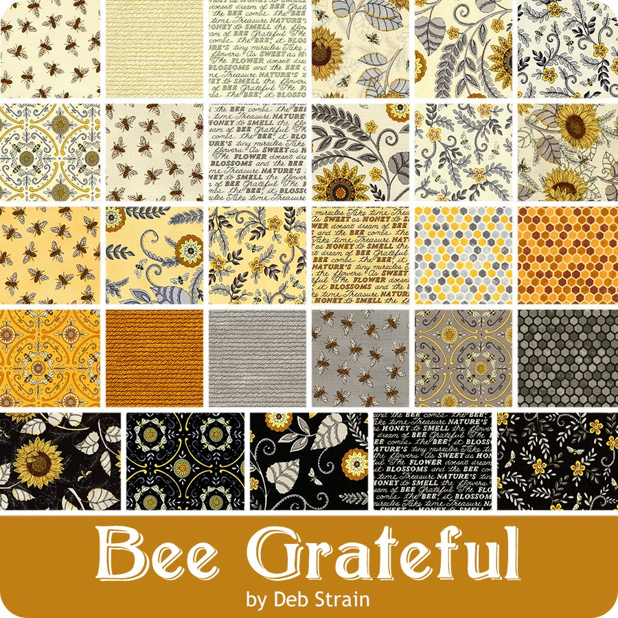 42-10 Precut Fabric Quilt Squares by Deb Strain Bee Grateful Layer Cake