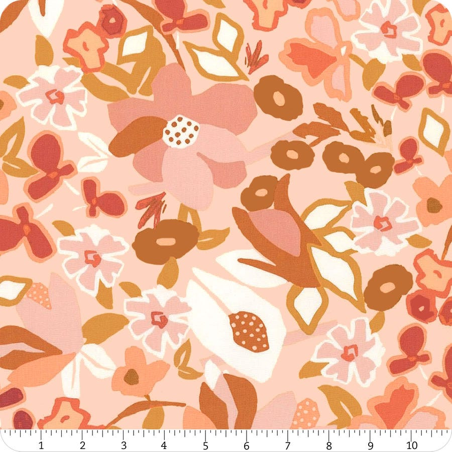 Freckled Leaves from Capsults by Agf Studio for Art Gallery Fabrics Terracotta Fabric END-OF-BOLT 21X44 100/% premium cotton.
