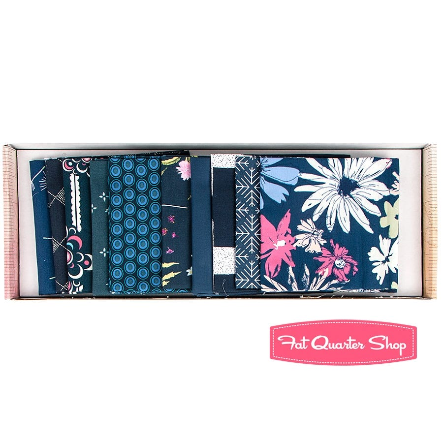Color Master Art Gallery Fabric 10 Fat Quarter Bundle Midnight Ocean Edition no.10