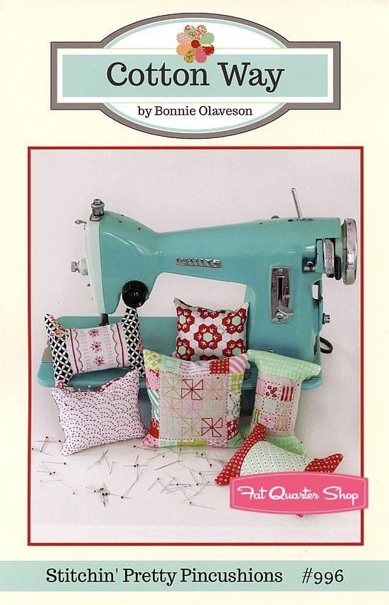 PATTERN pretty sewing accessories PATTERN Sarah/'s Pincushions