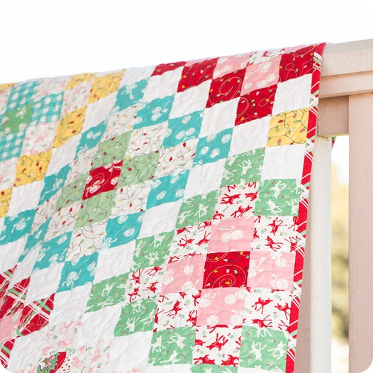 Deer Christmas Quilt Kit Featuring Deer Christmas By Urban Chicks Fat Quarter Shop