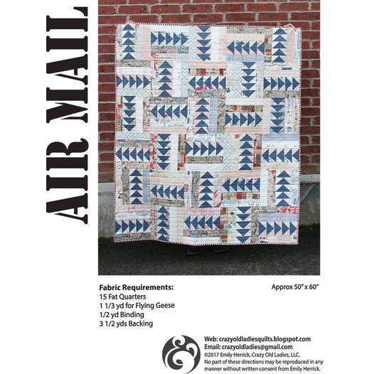 Air Mail Downloadable Pdf Quilt Pattern Emily Herrick Designs