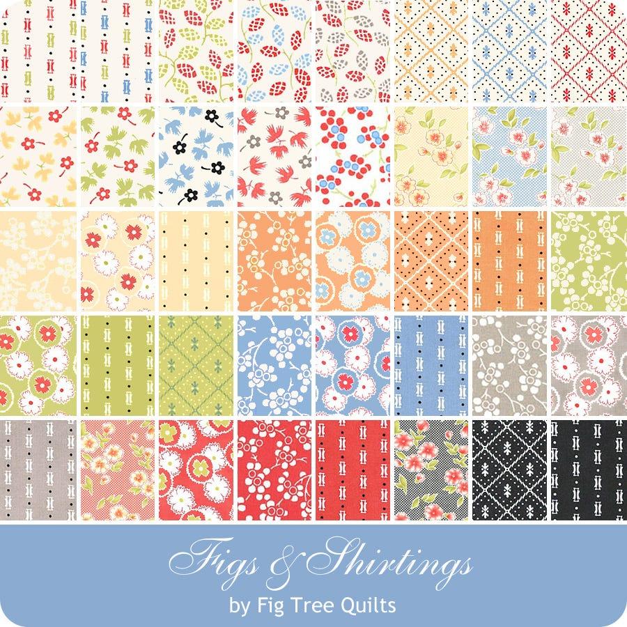 Fig Tree FARMHOUSE 2-40 Fat 8th Fat Eighth F8 Bundle quilting fabric