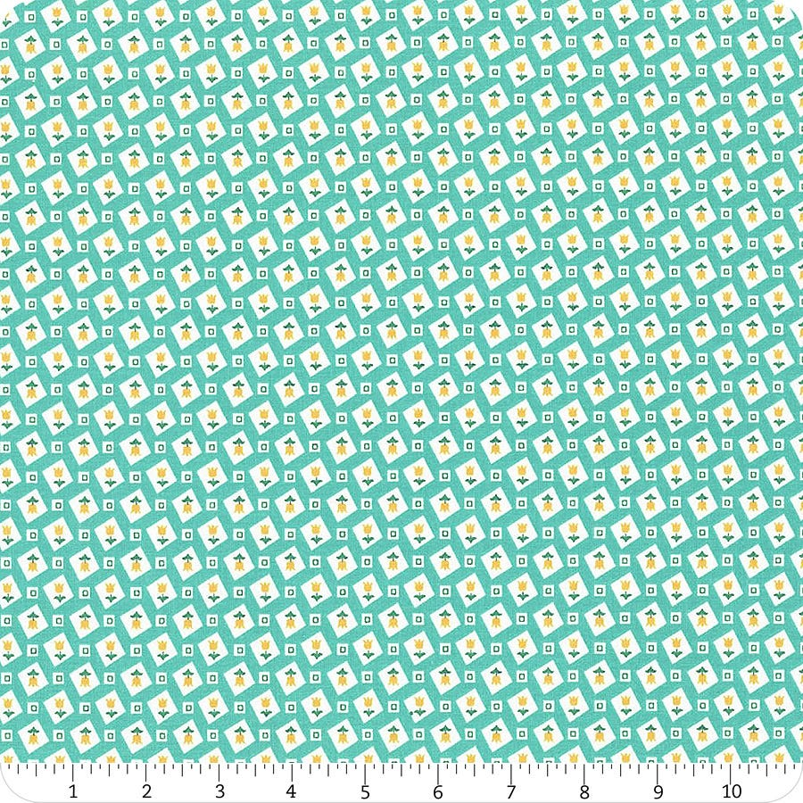Vivid Tulips Flea Market C10220-Vivid Lori Holt Fabric is sold in 12 yard increments and cut continuously