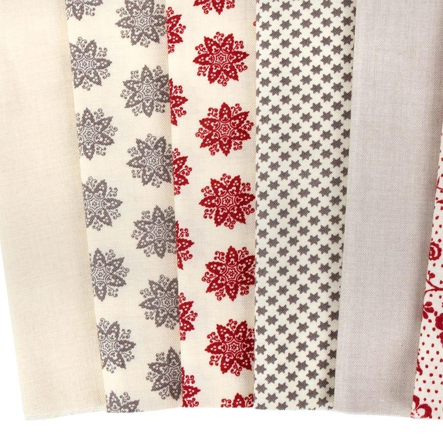 "Fleur de Noel Mini 2.5/"" Charm Pack by French General for Moda Fabrics"