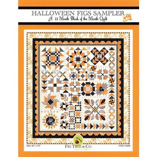 Halloween Figs Sampler Complete Pattern Set| Fig Tree Quilts