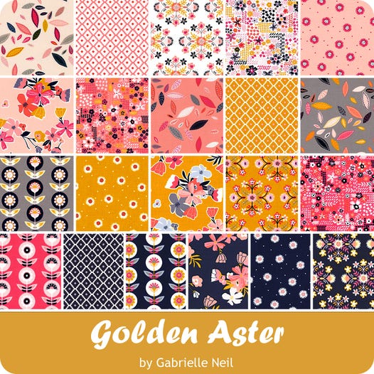 Golden Aster Fat Quarter Bundle Gabrielle Neil Design Studio For Riley Blake Designs Fat Quarter Shop