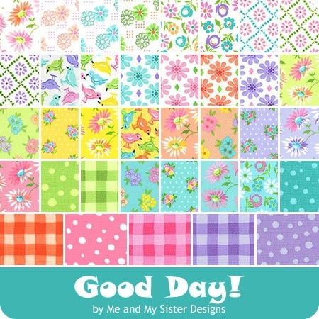 """Moda GOOD DAY Me /& My Sister CHARM PACK 42-5/"""" squares Quilt Fabric"""