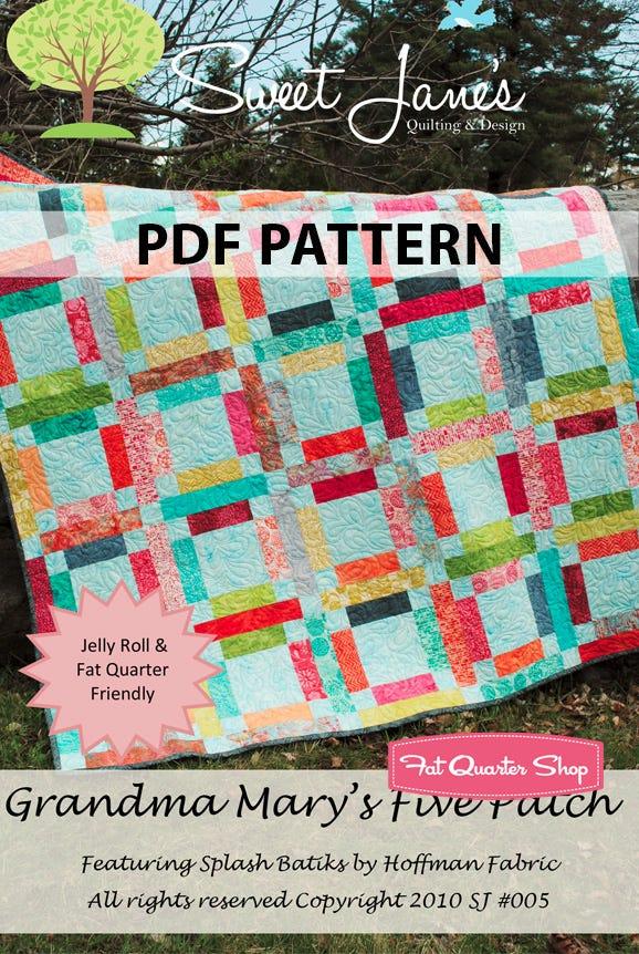 Fat Quarter or Half Yard Friendly Plus One pattern by Sweet Jane/'s