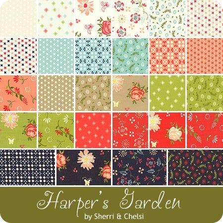 Harper S Garden Mini Charm Pack Sherri Chelsi For Moda Fabrics