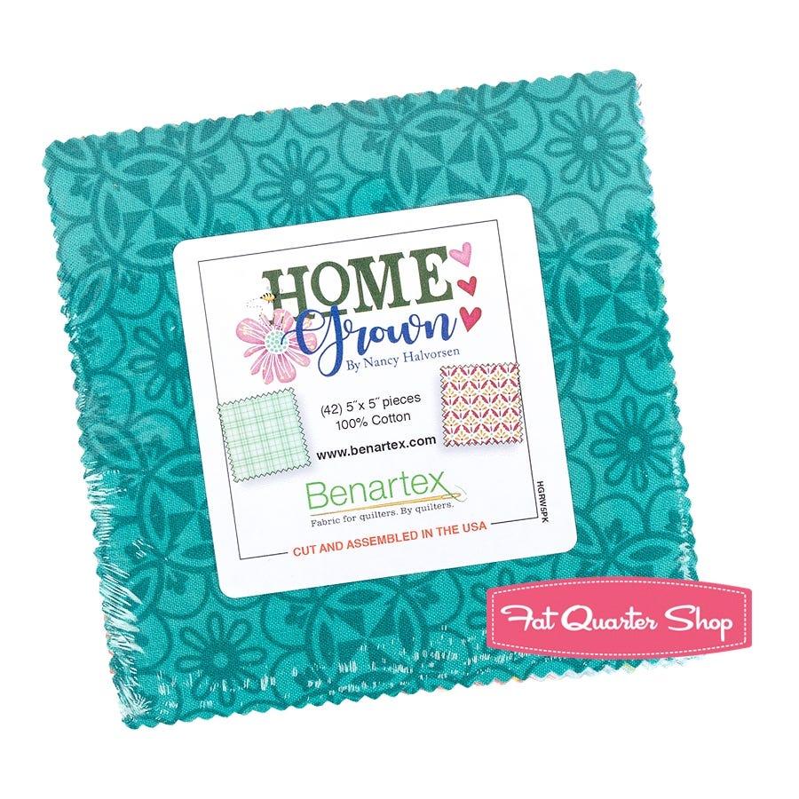 "Fundamentals Pre-Cut Charm pack 5/"" squares Cotton Quilting Fabric Benartex"