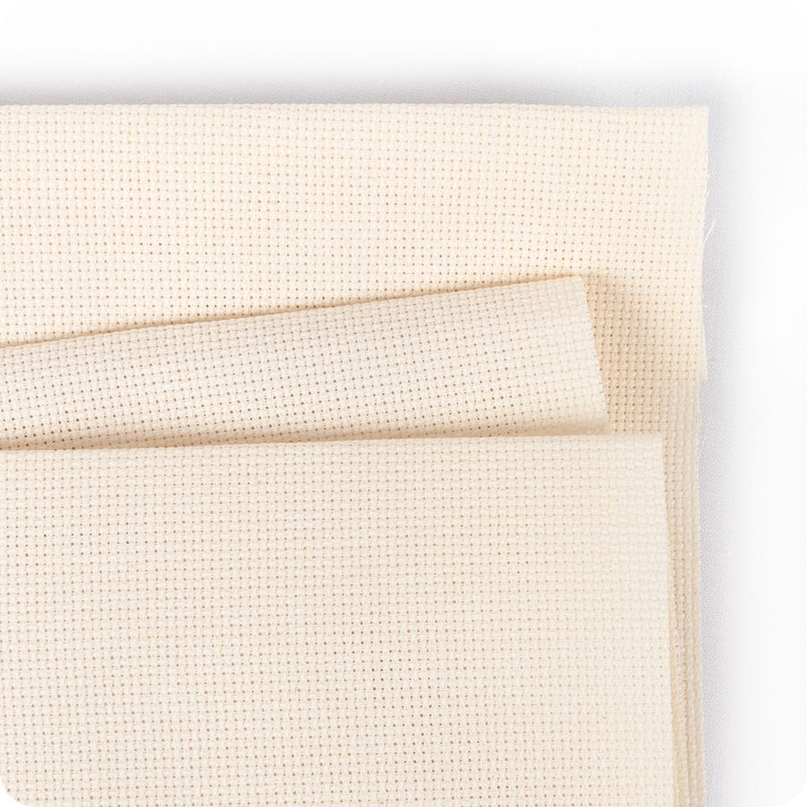 IVORY Aida 18ct Wichelt-Permin premium cross stitch fabric 100/% cotton #359-22A