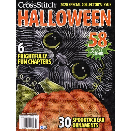 Just Cross Stitch Halloween 2020 Free Just Cross Stitch Magazine | Halloween 2020 Issue | Fat Quarter Shop