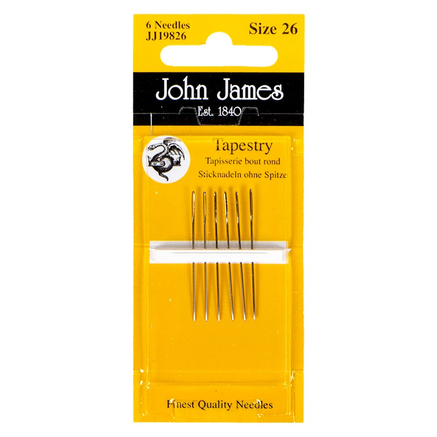 John James Twin Pointed Quick Stitch Tapestry Hand Needles-Size 26 3//Pkg