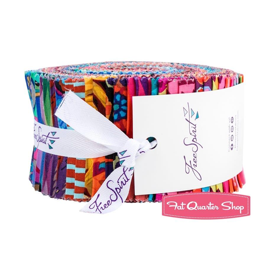 Designer Essentials Solids Black Design Roll 40 2.5-inch Strips Jelly Roll Free Spirit