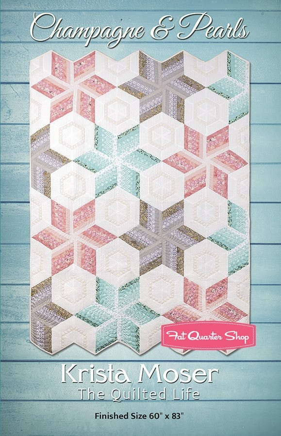 Krista Moser Champagne and Pearls Modern Quilt Pattern PDF