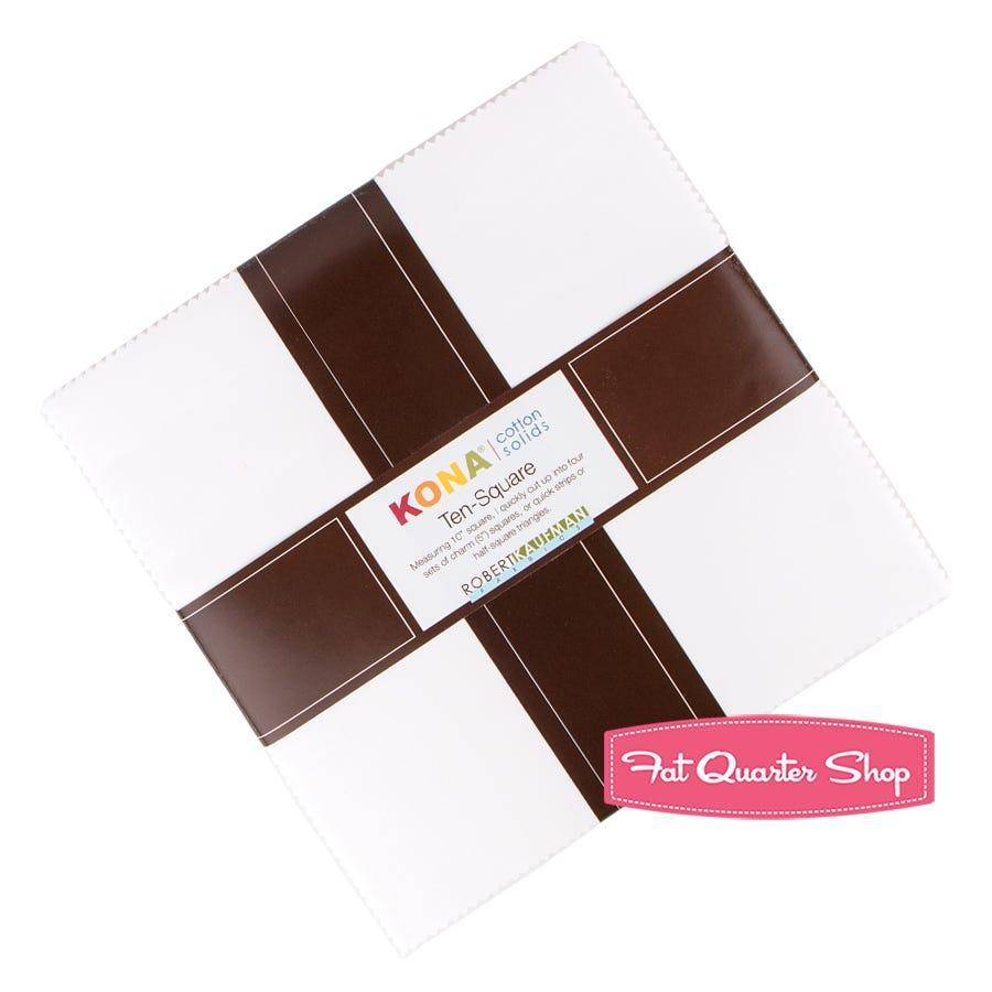 Kona Solids White 10 Squares 42 pcs