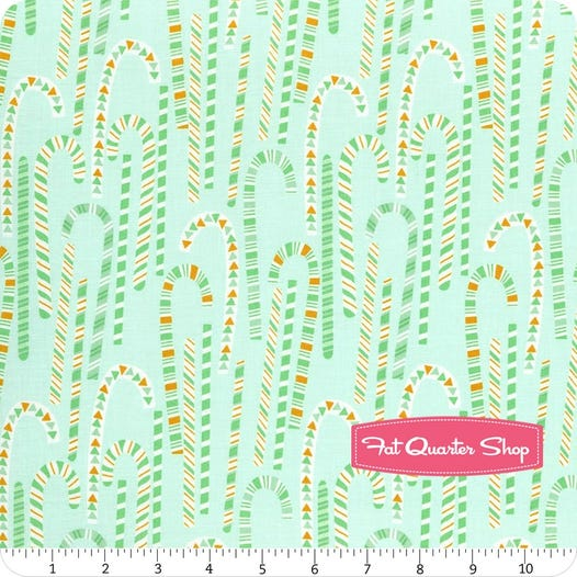 Kringle S Sweet Shop Green Candy Cane Forest Yardage Sku