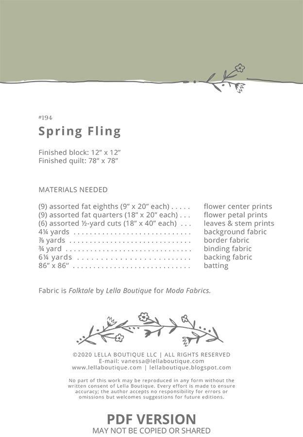 Spring Fling 64x64 inch quilt