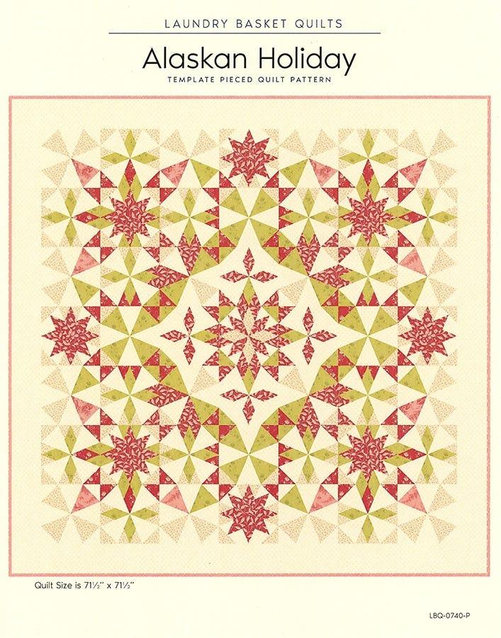 Laundry Basket Quilts Alaska Quilt Pattern Bundle with Template Set 71.5 x 71.5